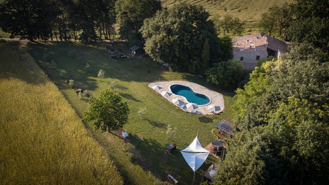 Yoga & Reit Retreat Toskana Haus Aussenanlage